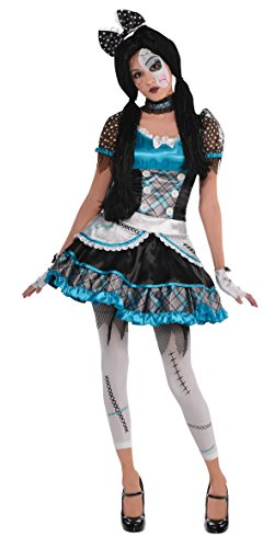AMSCAN Shattered Doll Halloween Costume for Teen Girls, Medium, with Included Accessories -