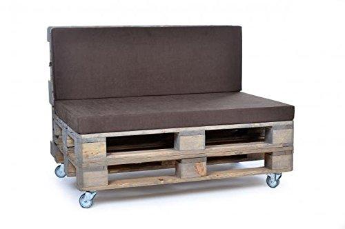 Palettenkissen, Gartenmöbel Auflagen, Sitzbankauflage, Matratzenauflagen auch m. Rückenlehne bzw. Dekokissen, wie Baumwolle, braun, scheuer- und abriebfest, für Loft oder Lounge