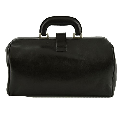 Borsa Per Medico In Pelle Vera Con Tasca Frontale Colore Nero - Pelletteria Toscana Made In Italy - Business