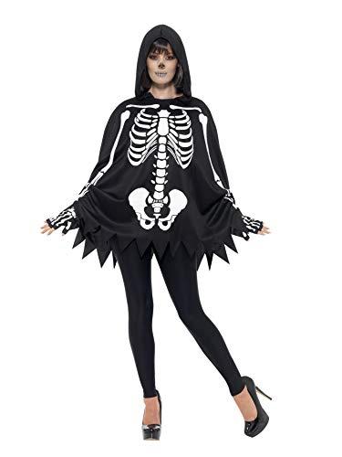 Smiffys Adult Poncho Skeleton Costume Standard ()