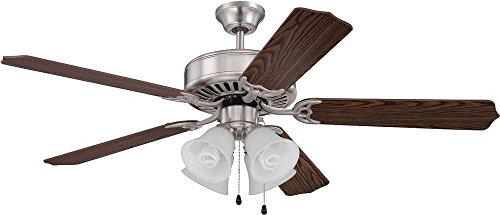"""Craftmade K11202 Ceiling Fan Motor with Blades Included, 52"""""""