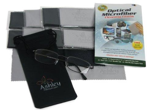 Economisez 33% aujourd'hui! (8 Case Pack & GRATUIT & More) Agrandir Prime optique (80/20 Split) microfibre Chiffons de nettoyage par Ashley PREMIUM, INC - Taille 6 1/4