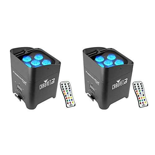 Chauvet DJ Freedom Par Tri-6 Wireless Battery RGB LED Wash Light Effect (2 Pack)