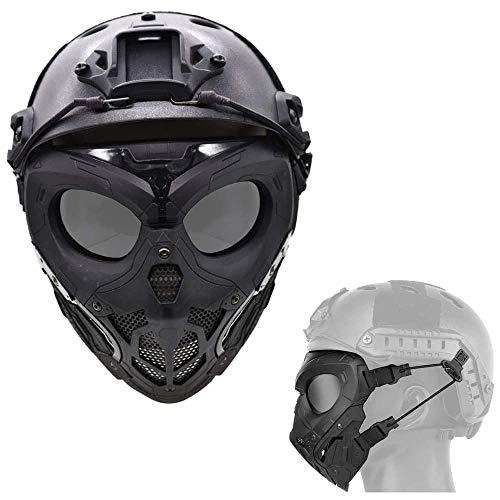 WLXW Masque De Protection Tactique Airsoft, Masque Complet Double Mode Portant Conception avec Sangle Réglable pour… 2