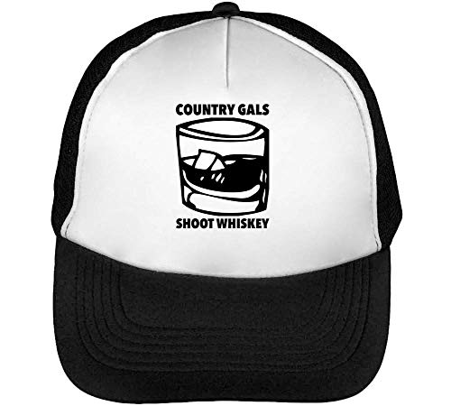 Country Gals Gorras Hombre Negro Snapback Beisbol Whiskey Blanco Shoot UUwCqr