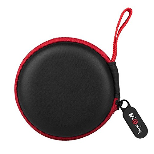 : Headphones Case, HiGoing Multifunction Protective Hard Travel Carrying Case, Portable Storage Bag For Bluetooth / Wired Headset Earphone Earbuds MP3 - Black