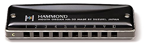 Suzuki HA-20-C Promaster Hammond Professional 10-Hole Diatonic Harmonica, Key of C