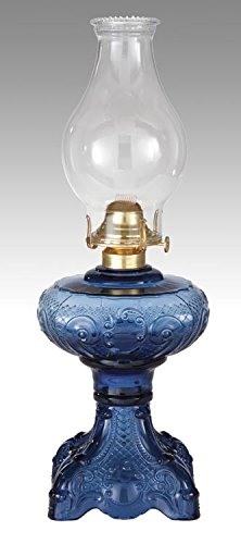 B&P Lamp Princess Feather Oil Lamp