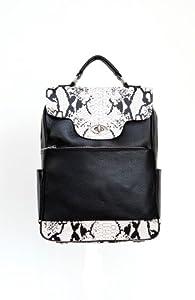 Samantha Mary Leather Laptop Backpack