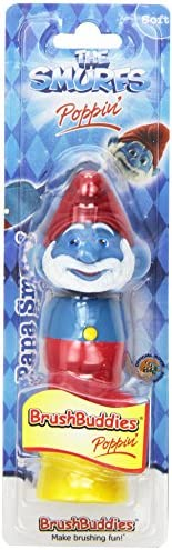 Brush Buddies Childrens Toothbrush, The Smurfs Poppin Papa Smurf, (Pack of 6)