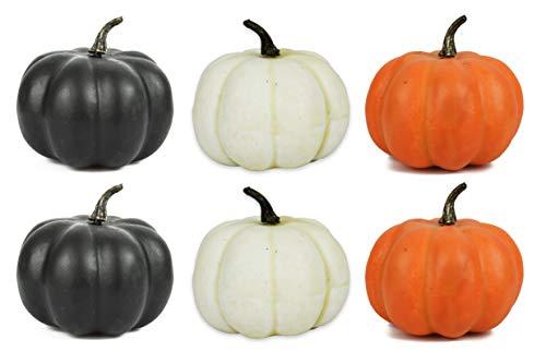 (Set of 6 Halloween Decorative Pumpkins! 4.25