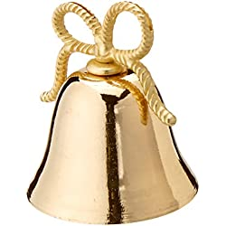 Kate Aspen Gold Kissing Bells Place Card/Photo Holder, Set of 24