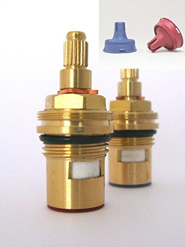 Ceramic Disc Stem cartridge faucet Tap valve Quarter turn insert gland FITS DAMIXA 1/2