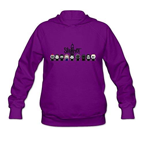 TIKE Women's Slipknot Cartoon Chibi Logo Hood Sweater Color Purple Size L ()