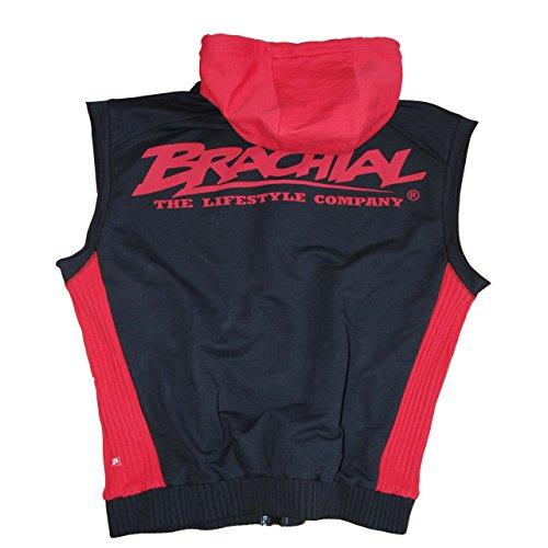 "Brachial Zip-Hoody ""Destroyer"" schwarz/rot XL"