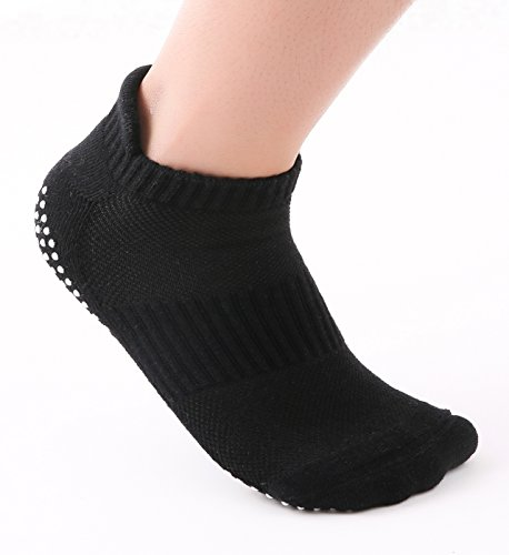 JNINTH Non-Slip Non-Skid Yoga Socks Cotton Pilates Ballet Sock with Grips for Women Girl