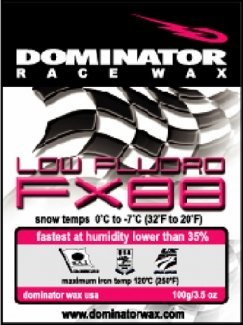 DOMINATOR LOW-FLUORO HOT WAX FOR LOW HUMIDITY SNOW, PINK, WARM ()