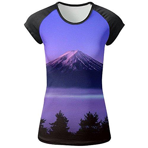 Women's Mount Fuji Raglan Baseball T-shirts 3D Graphic Best Short Sleeve