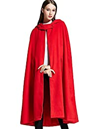 Women Batwing Cape Wool Poncho Jacket Warm Cloak Coat With Hood