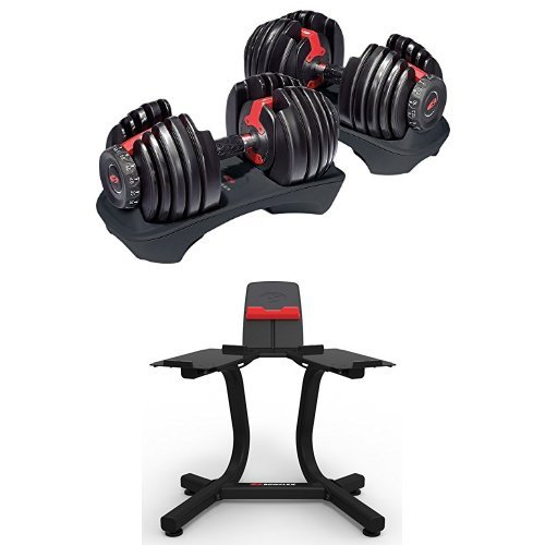 Bowflex SelectTech 552 Adjustable Dumbbells (Pair) and Stand Bundle by Bowflex