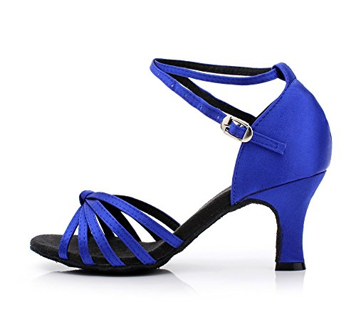 Blando Mujeres Salsa Baile Fondo América Blue7cm Zapatos Tango Las De Yff UASxwPzW