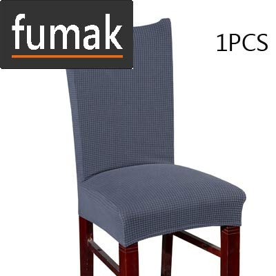 fumak Chair Slipcover - Pure Color Corn Thickened Chair Cover Big Elastic seat Chair Covers Painting slipcovers Restaurant Banquet Hotel Home Decoration (1) (Chairs Slipcovered Club)