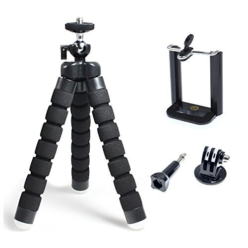 PINRUI Flexible Octopus Style Mini Tripod Stand Kit Universal for Cellphone Smartphone and Sport Action Camera