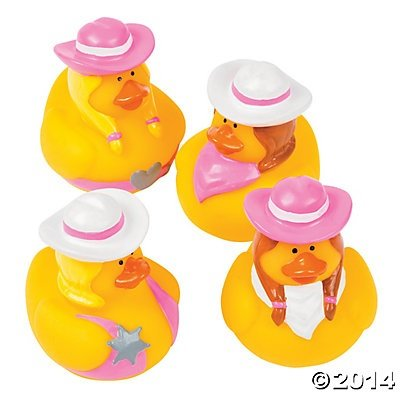 Baby Bath Toys - Rubber Duck Toy - 12-Pack Rubber Ducks - Cowgirl theme (Theme Rubber)