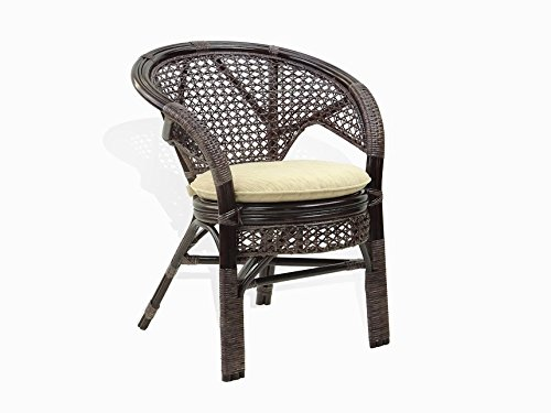 Cheap Lounge Chair Rich Designer ECO Handmade Rattan Wicker Thick Cushions Color: Dark Brown