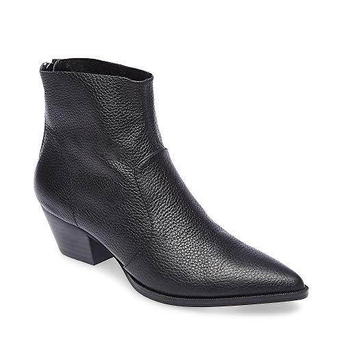 - Steve Madden Women's CAFÉ Western Boot, Black Leather, 6.5 M US
