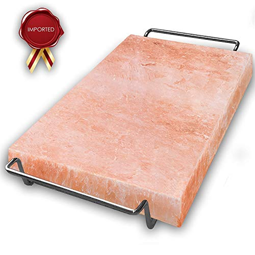 Majestic Pure Pink Himalayan Salt Block - with Stainless Steel Holder - 12in x 8in x 1.5in by Majestic Pure (Image #6)