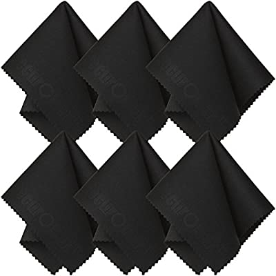 Microfiber Cleaning Cloth (6 Pack) for Lens, Eyeglasses, Glasses, Screen, iPad, iPhone, Tablet, Cell Phone - Lint-FREE Non-Abrasive Cleaner Cloths to Clean Camera Lenses, Tablets, Touch LCD TV Screens from SecurOMax