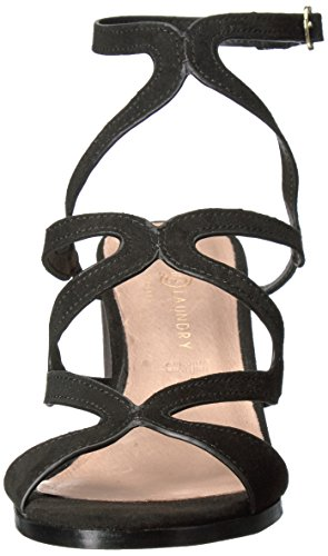 Laundry Chinese Sandal Suede Radical Women's Black Wedge dvqRvw
