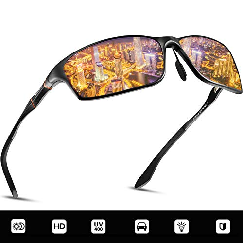SOXICK Night Driving Glasses, Anti-glare HD Vision - Safety Night Vision Glasses For Men and Women (Black1)