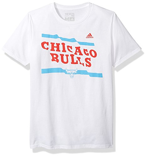 NBA Chicago Bulls Adult Men Flying Height S/Go-To Tee, Large, White