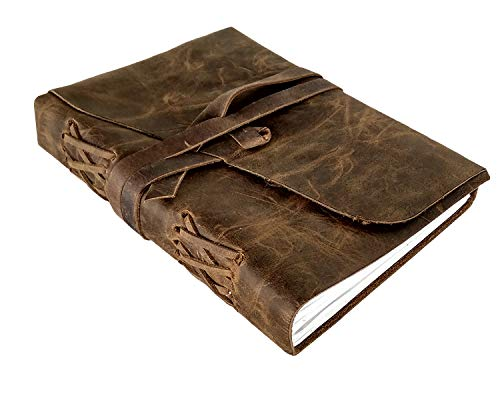 - Leather Journal to Write in - Genuine Leather Notebook Diary for Men Women - Handmade Gift for Writers Artist Poet Him Her
