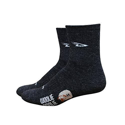 DEFEET Men's Woolie Boolie 4-Inch Sock, Charcoal, Small
