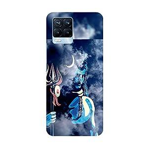 """TRUEMAGNET Premium Lord """"Shiva"""" Printed Hard Mobile Back Cover for Realme 8 / Realme 8 Pro, Designer & Attractive Case…"""