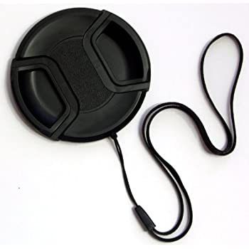 Premium 77mm Camera Lens Cap Center Pinch String Leash Holder Strap