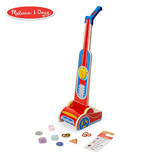 Melissa & Doug Wooden Vacuum Cleaner Play Set (10 pcs)