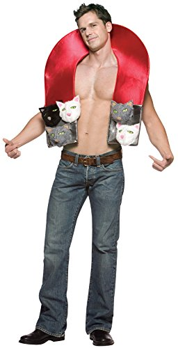 Rasta Imposta Men's Pussy Magnet Outfit Funny Theme Party Halloween Fancy Costume, OS -