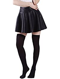 Women's Stockings Over the Knee Opaque Tights Thigh High Nylon Socks