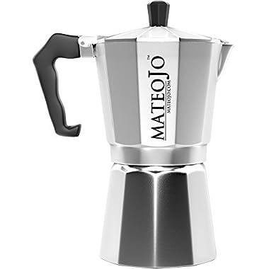 Stovetop Espresso Maker - Italian Moka Pot - Cafetera - Cuban Coffee Machine - 6 Cups by MateoJo …