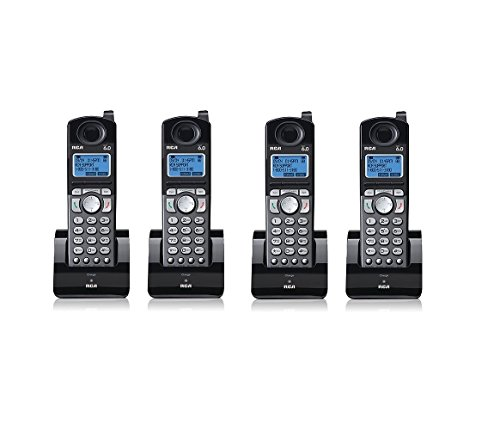 - RCA 25055RE1 Dect 6.0 Cordless Expansion Handset 2-Line Landline Telephone - 4 Pack