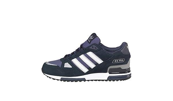 promo code 56fe6 6e2ba Zapatillas deportivas Adidas Originals ZX 750 marino, blanco.  Amazon.es   Deportes y aire libre