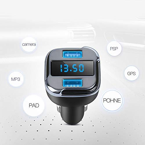 1x OLED Blue Light Display Voltmeter Car Dual USB Charger Real Time GPS Tracker