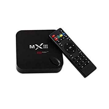 Susay(TM) MX3 Android Mini PC TV BOX 4K Quad Core XBMC 14 0 Android 4 4  KitKat 8GB HDD 2GB RAM WiFi MXIII with IR Remote