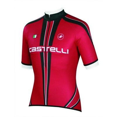 3656c897e Amazon.com   Castelli Freccia Cycling Jersey - Red White Black ...