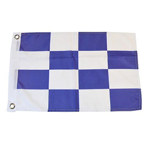 Nautical Flag 12 Inches Tall x 18 Inches Long Outdoor Boating Dock Pier - Long Pike Beach At