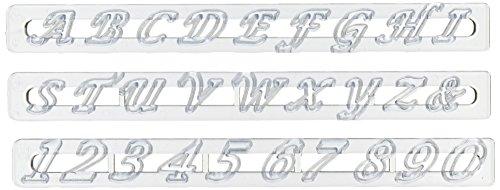 Script Alphabet Letters - FMM Upper Case Script Alphabet & Number Tappit Cutters Set